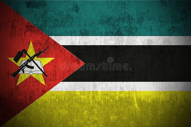 De Vlag van Grunge van Mozambique vector illustratie