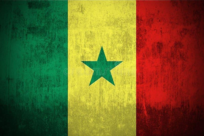 De Vlag van Grunge van Senegal royalty-vrije illustratie