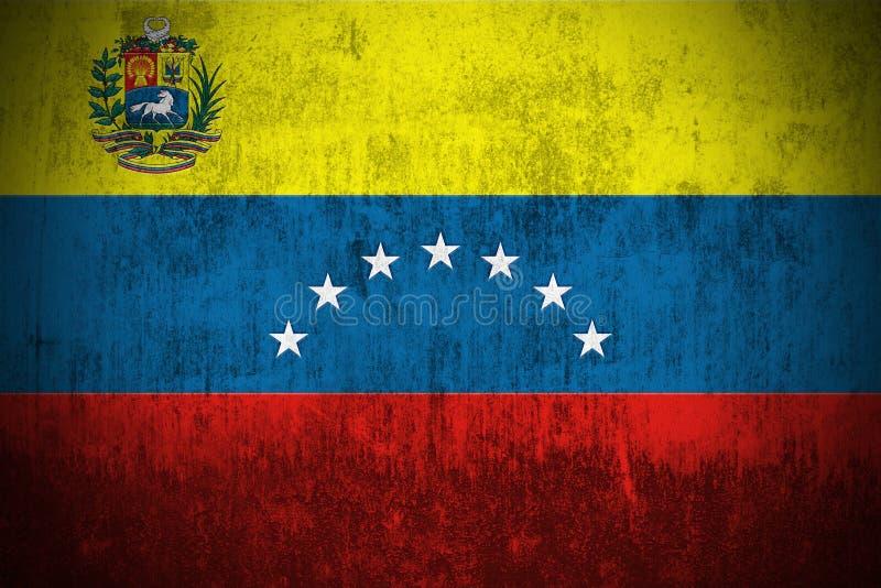 De Vlag van Grunge van Venezuela stock illustratie