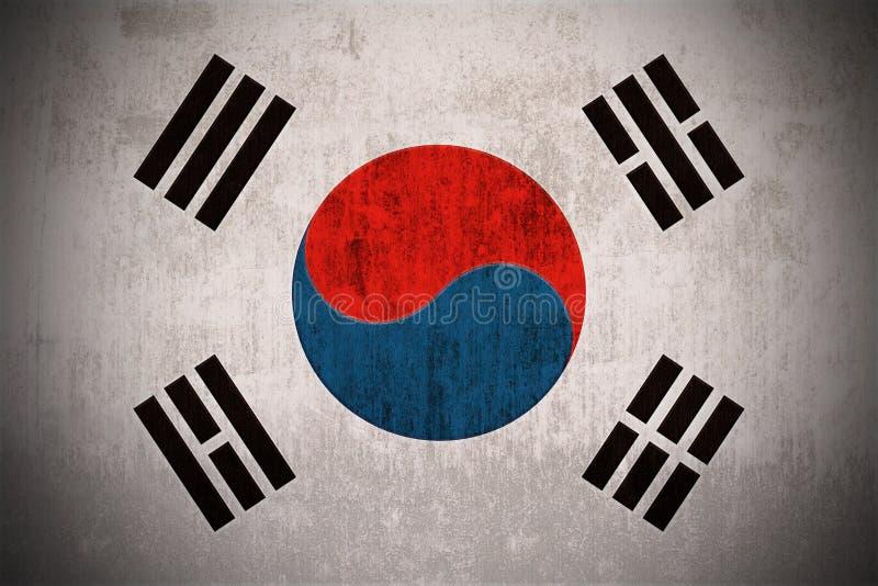 De Vlag van Grunge van Zuid-Korea vector illustratie