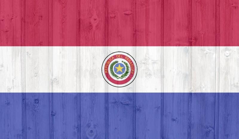 De vlag van Grungeparaguay royalty-vrije stock foto's