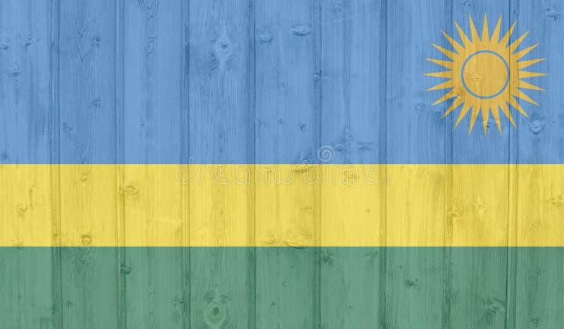 De vlag van Grungerwanda stock foto