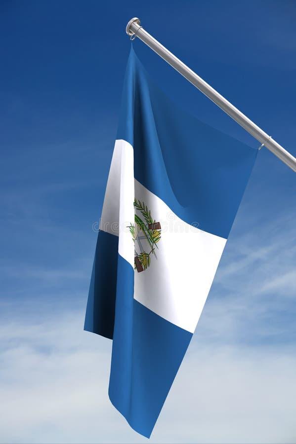 De vlag van Guatemala   vector illustratie