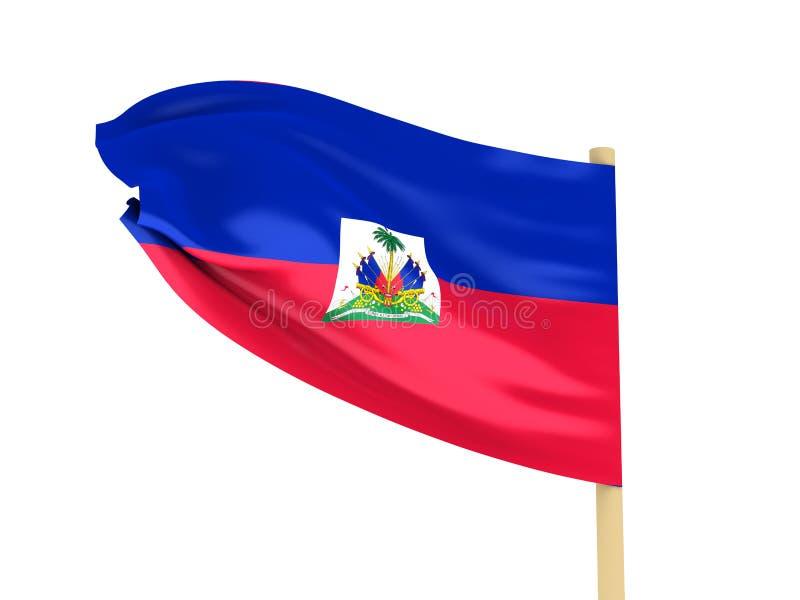 De vlag van Haïti royalty-vrije illustratie