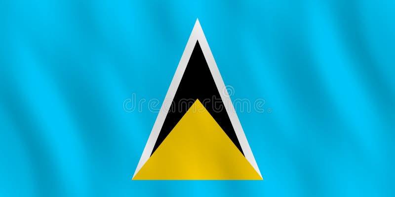 De vlag van heilige Lucia met het golven effect, officieel aandeel royalty-vrije illustratie