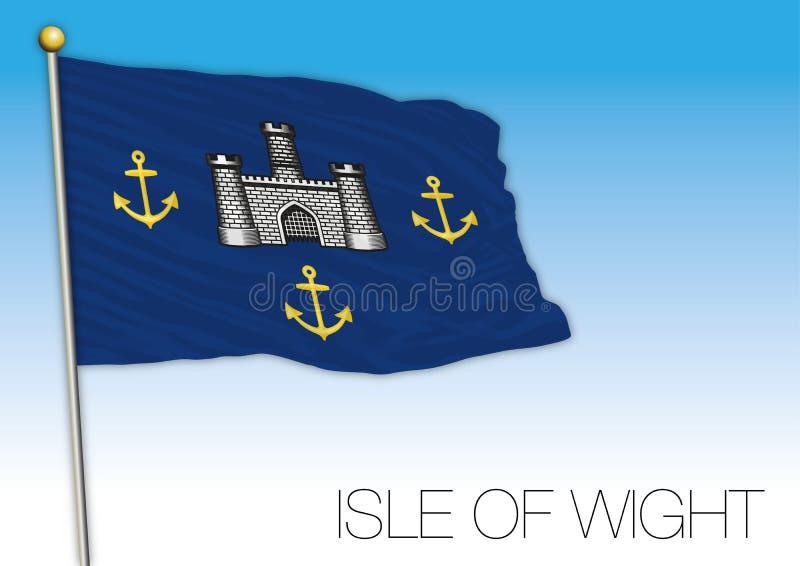 De vlag van het Eiland Wight, het Verenigd Koninkrijk, provincie van het UK stock illustratie