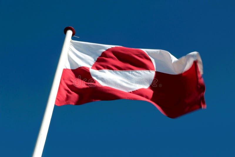 De vlag van het gebied van Groenland, Europa stock afbeelding