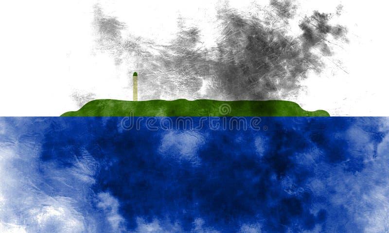 De vlag van het Navassaeiland grunge, FL van het grondgebied van Verenigde Staten afhankelijk vector illustratie