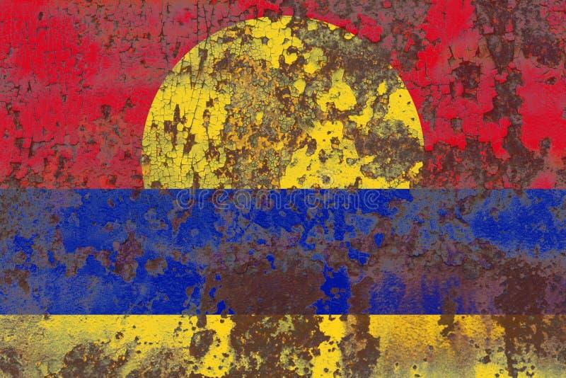 De vlag van het Palmyraatol grunge, fla van het grondgebied van Verenigde Staten afhankelijke royalty-vrije stock afbeeldingen