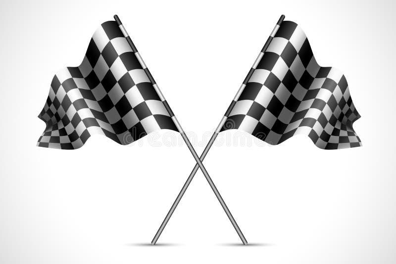 De Vlag van het ras royalty-vrije illustratie