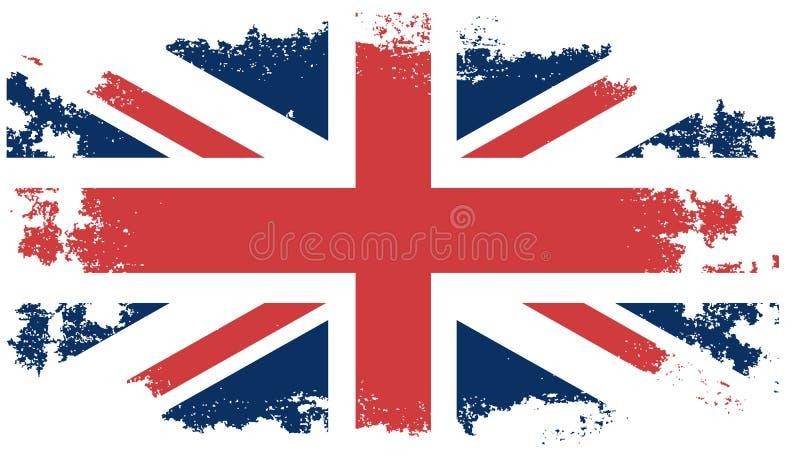 De vlag van het Grungeverenigd koninkrijk stock illustratie