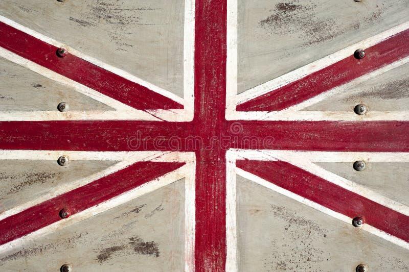 De Vlag Van Het Verenigd Koninkrijk Van Het Metaal Stock Foto's