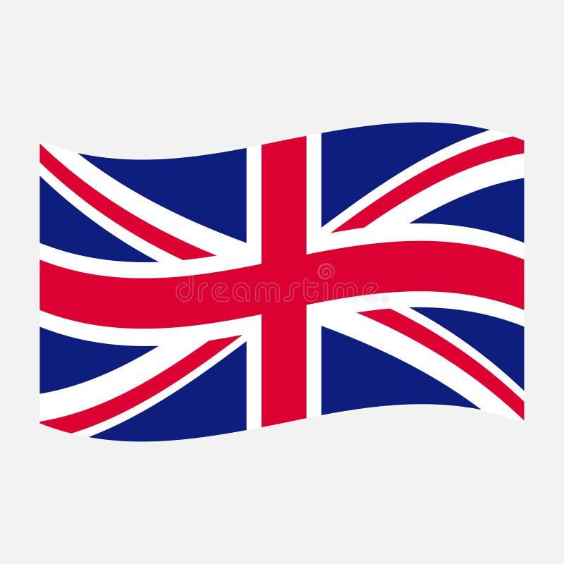 De vlag van het Verenigd Koninkrijk stock illustratie