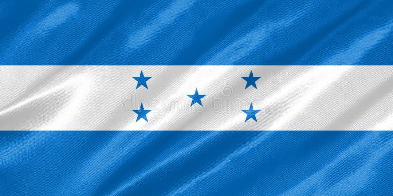 De vlag van Honduras royalty-vrije illustratie