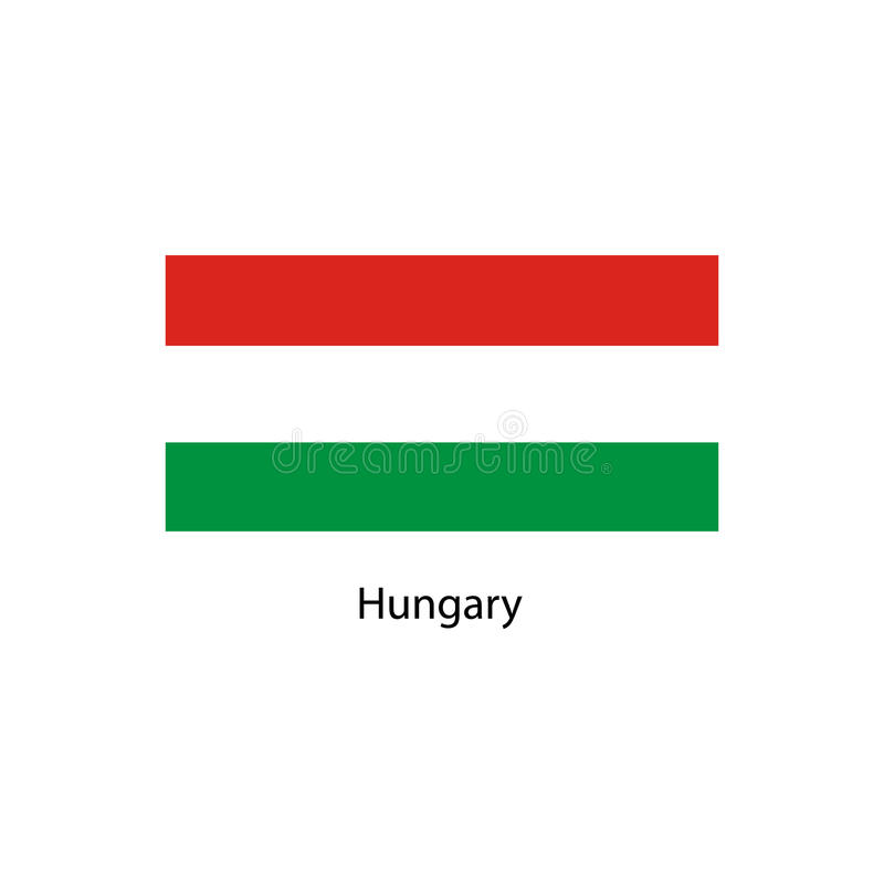 De vlag van Hongarije, officieel kleuren en aandeel correct De nationale vlag van Hongarije royalty-vrije illustratie