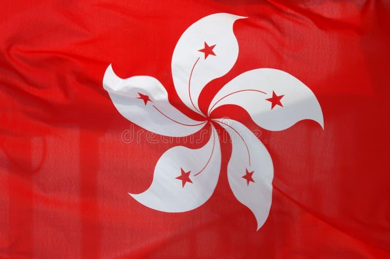 De vlag van Hongkong stock afbeelding