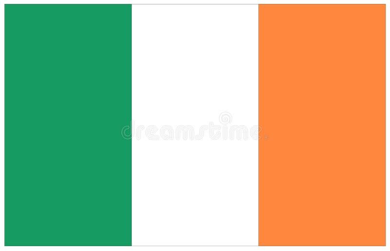 De vlag van Ierland - eilandland in de Noord-Atlantische Oceaan royalty-vrije illustratie