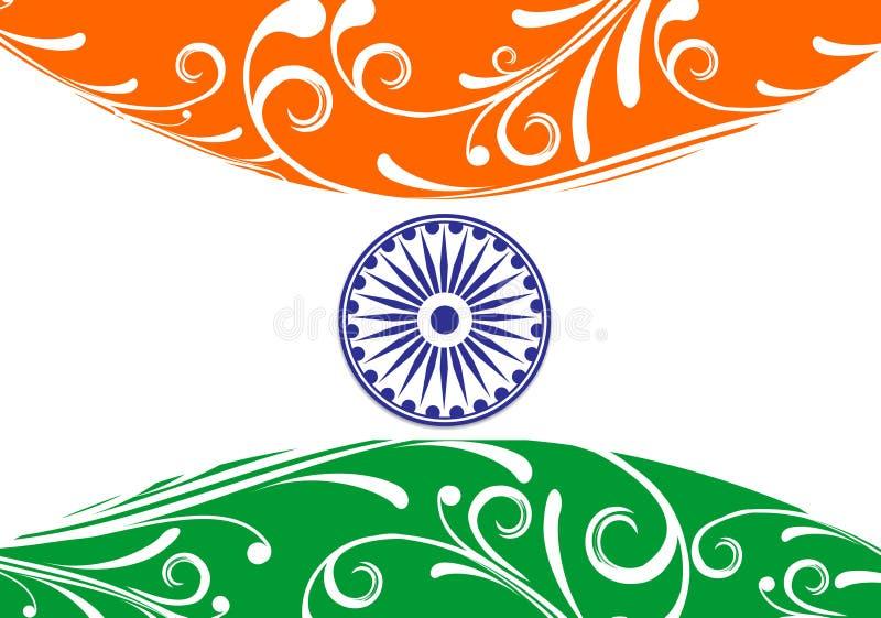De vlag van India vector illustratie