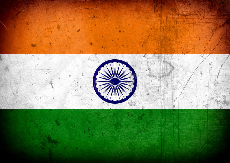 De Vlag van India stock foto's