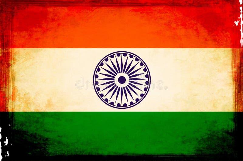 De Vlag van India stock illustratie