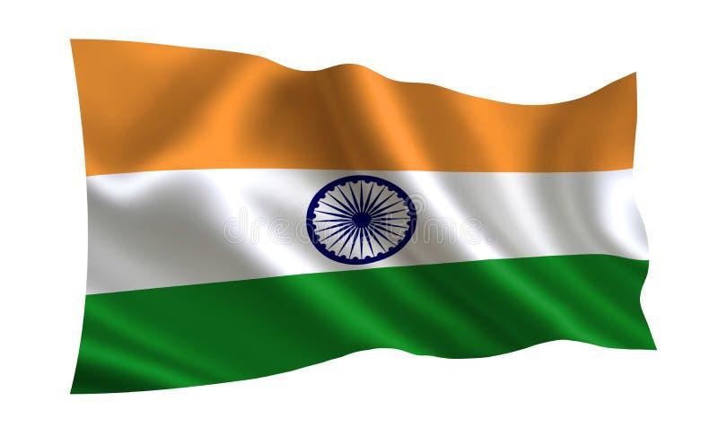 De Vlag van India Een reeks `-Vlaggen van de wereld ` Het land - de vlag van India royalty-vrije illustratie