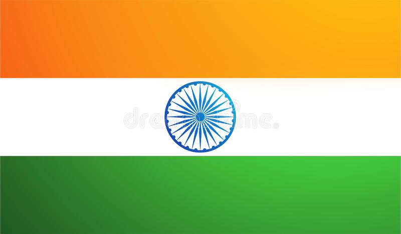 De vlag van India, de nationale vlag van India royalty-vrije illustratie
