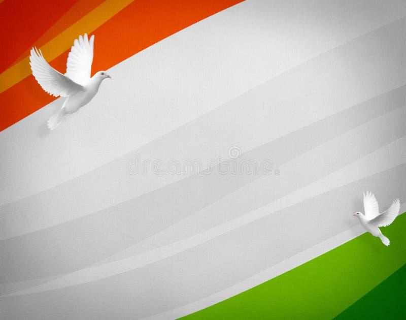De vlag van India, de nationale vlag van India, embleem royalty-vrije illustratie