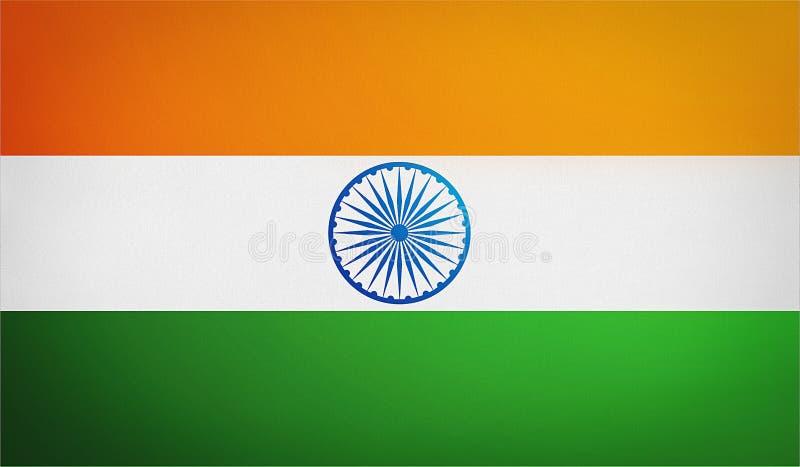 De vlag van India, de nationale vlag van India, embleem stock illustratie