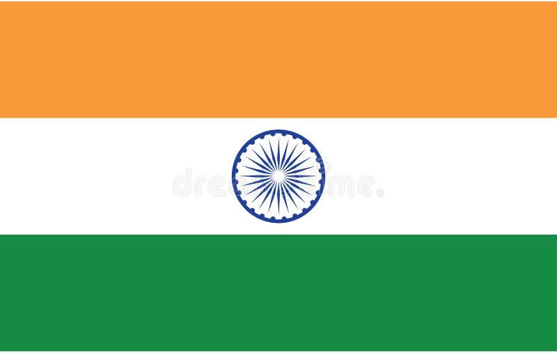 De vlag van India, officieel de Republiek India is een land in Zuid-Azige stock illustratie