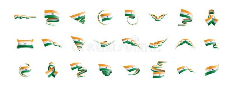 De vlag van India, vectorillustratie op een witte achtergrond stock illustratie