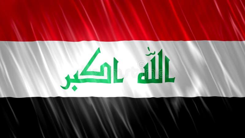 De Vlag van Irak stock afbeeldingen