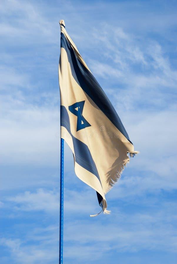 De vlag van Israël bij Israëlische Onafhankelijkheidsdag royalty-vrije stock foto