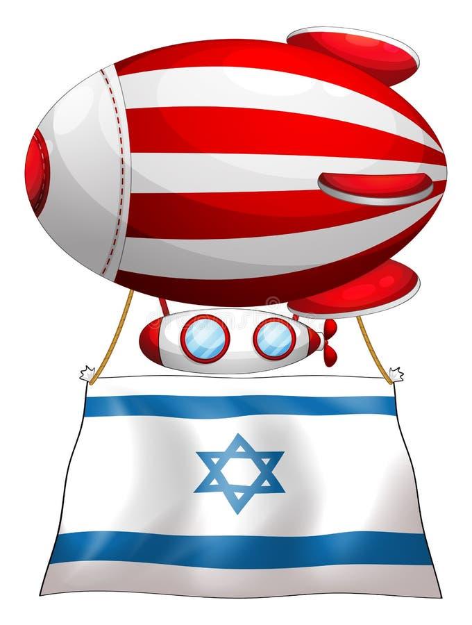 De vlag van Israël maakte aan het drijven streep-gekleurde ballo vast vector illustratie