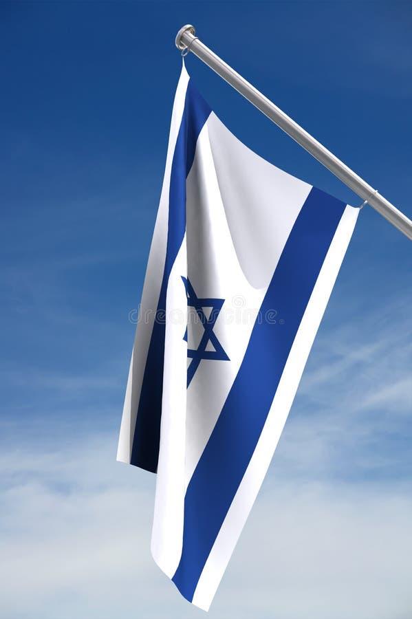 De vlag van Israël met het knippen van weg