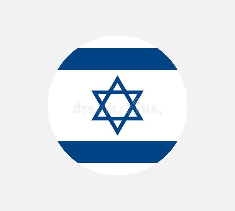 De vlag van Israël, officieel kleuren en aandeel correct De nationale vlag van Israël Vlakke vectorillustratie stock illustratie