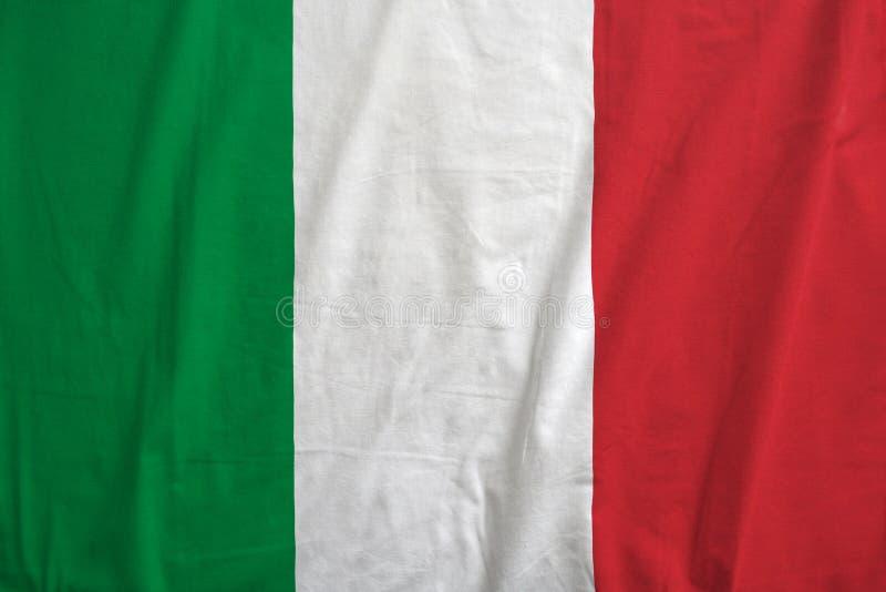 De vlag van Italië nationale textuur als achtergrond stock afbeeldingen