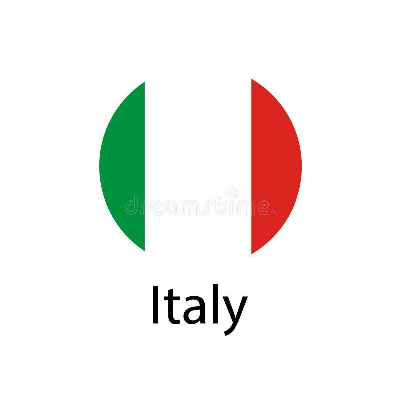 De Vlag van Italië Officieel kleuren en aandeel correct Nationale vlag van Italië stock illustratie
