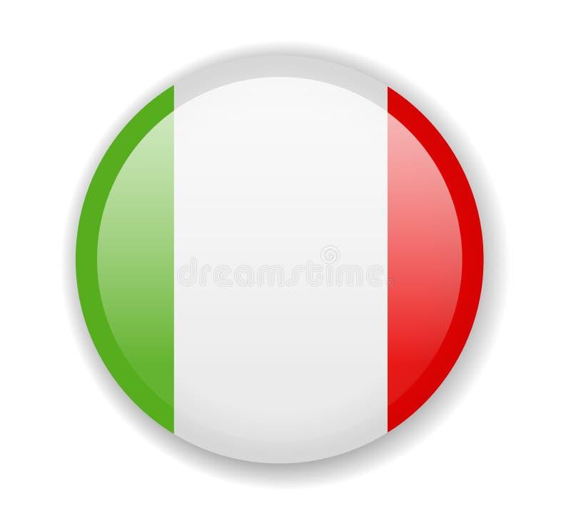 De Vlag van Italië Rond helder Pictogram op een witte achtergrond vector illustratie