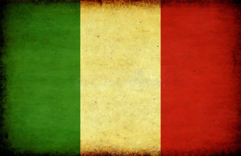 De vlag van Italië van Grunge vector illustratie
