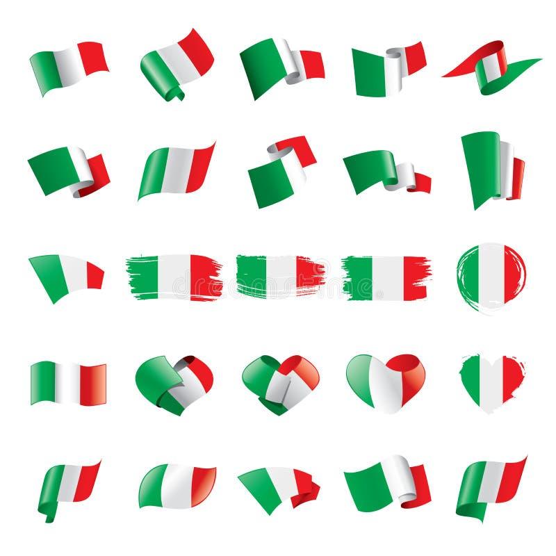 De vlag van Italië, vectorillustratie royalty-vrije illustratie