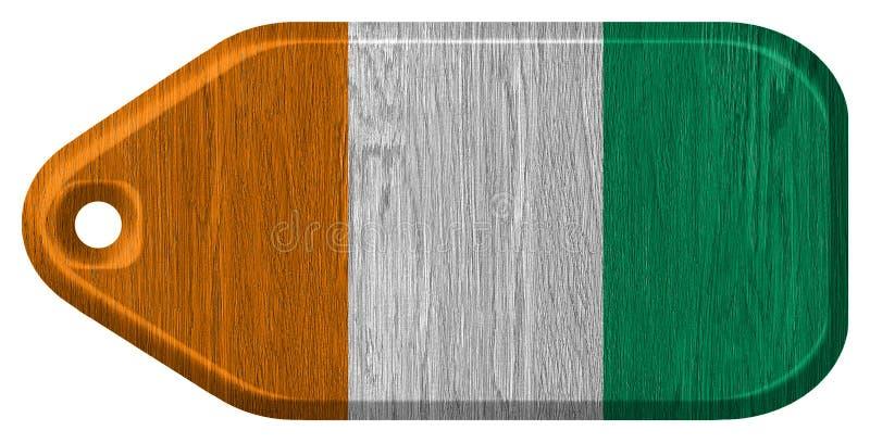 De vlag van Ivoorkust stock foto's