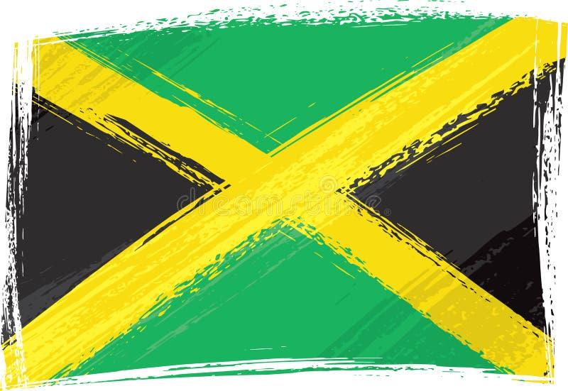 De vlag van Jamaïca van Grunge stock illustratie