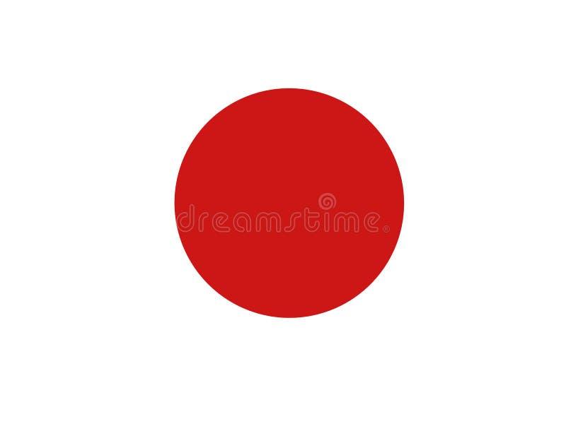 De Vlag van Japan royalty-vrije illustratie