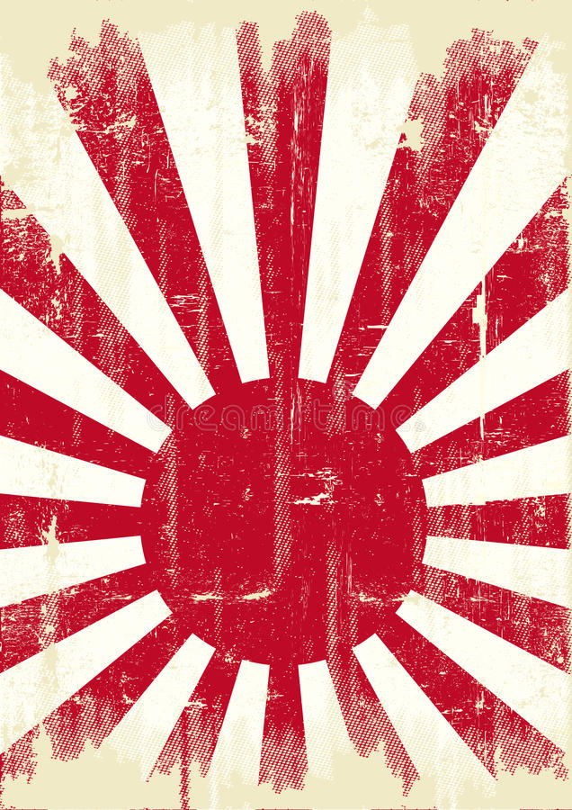 De vlag van Japan grunge stock illustratie