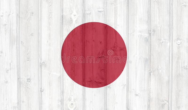 De vlag van Japan van Grunge stock illustratie