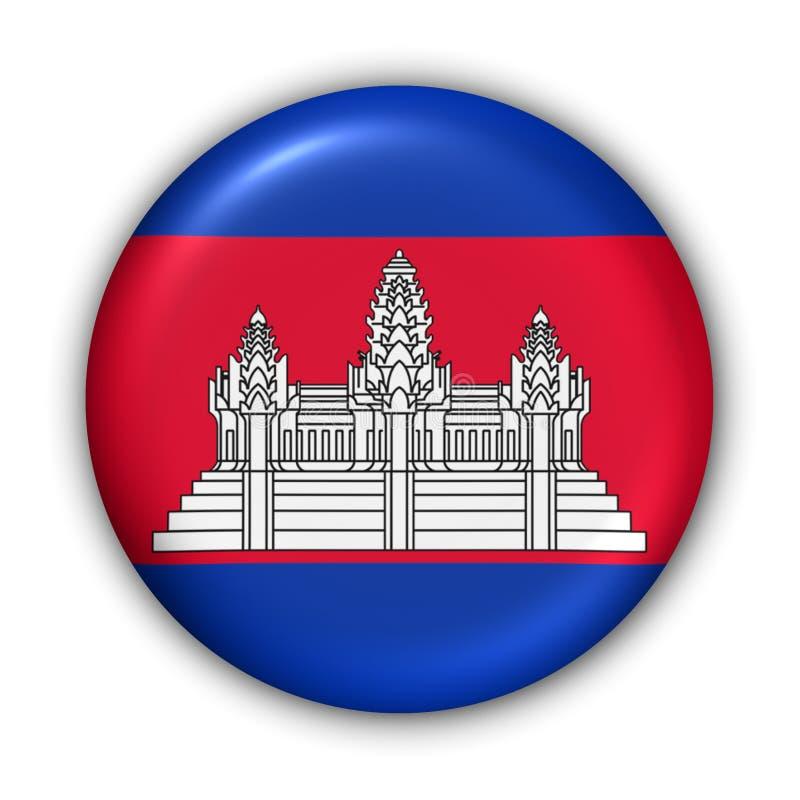 De Vlag van Kambodja royalty-vrije illustratie