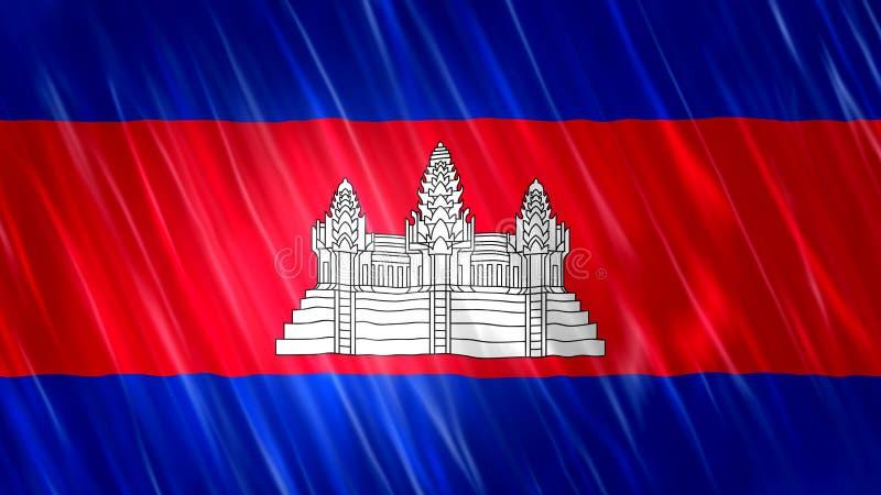 De Vlag van Kambodja royalty-vrije stock afbeeldingen