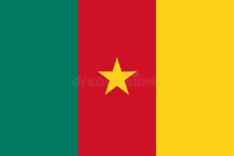 De vlag van Kameroen royalty-vrije illustratie
