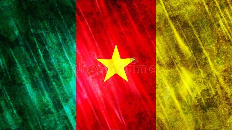 De vlag van Kameroen royalty-vrije stock afbeeldingen