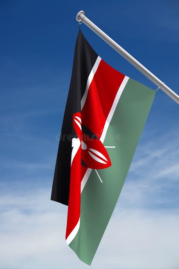 De Vlag van Kenia stock illustratie